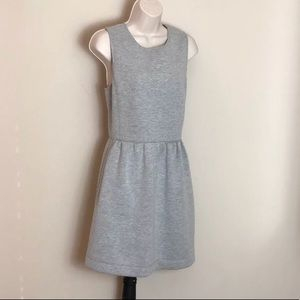 J. CREW grey sleeveless sweatshirt dress pockets